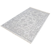 Harappa Silver and Ivory Rug