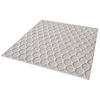 Dimond Home 8905-304 Aravali 16 X 16 inch Fog and Cream Rug in 16-inch Square thumb