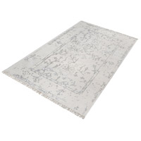 Belleville Antique Ivory and Silver Rug