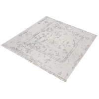 Dimond Home 8905-326 Belleville 6 X 6 inch Antique Ivory and Silver Rug in 6-inch Square thumb