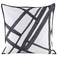 Intersections 24 inch Embroidery Pillow Cover