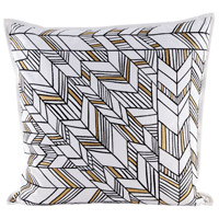 Golden Arrows 24 inch Embroidery Pillow Cover