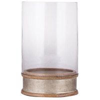 Signature 11 inch Light Mango Wood and German Silver Hurricane Portable Light, Small