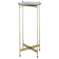1 Wall Street 31 X 15 inch Gold Side Table