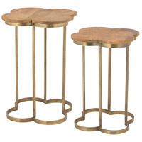 Dimond Home 8985-053/S2 Geometric 19 X 19 inch Gold Leaf and Mango Wood Accent Table Home Decor, Quatrafoil