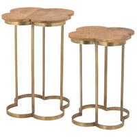 Dimond Home 8985-053/S2 Geometric 19 X 19 inch Gold Leaf and Mango Wood Accent Table Home Decor Quatrafoil