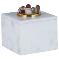 Dimond Home 8986-006 Christiana 5 X 5 inch White Marble Box thumb