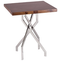 Stick Leggy 21 X 21 inch Sheemsham Wood and Stainless Steel Side Table Home Decor