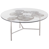 Victoria 36 X 36 inch Nickel Coffee Table, Round