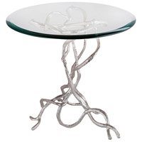 Woven Vines 20 X 20 inch Silver Plate Side Table Home Decor