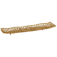 Dimond Home 8987-028 Leaf Veins 21 X 6 inch Gold Platter