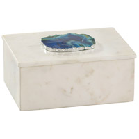 Dimond Home 8989-010 Signature 7 X 5 inch Marble and Blue Agate Box