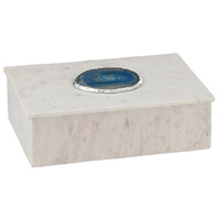Dimond Home 8989-020 Antilles 10 X 7 inch White Marble and Blue Agate Box