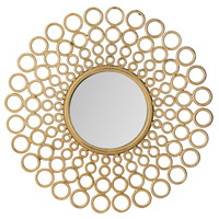 Cast 32 X 32 inch Gold Mirror Home Decor, Ring