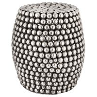 Pebble 18 inch Pewter Stool