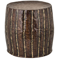 Signature Copper and Brass Stool Home Decor