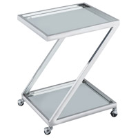 Zuri Polished Nickel Bar Cart
