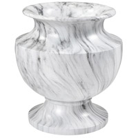 Via Appia White Marble Garden Planter, Small