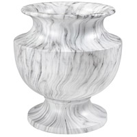 Via Appia White Marble Garden Planter, Large