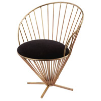 Taper Wire Gold and Black Chair Home Decor