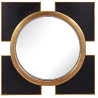 Dimond Home 985-004 Coined Regency 36 X 36 inch Black and Gold Wall Mirror thumb