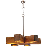Retro 6 Light 37 inch Natural Mango Pendant Ceiling Light
