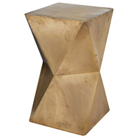 Faceted Gold Stool Home Decor
