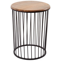 Dimond Home 985-045 Carousel 24 X 18 inch Bronze and Teak Outdoor Accent Table in Tall, Tall thumb