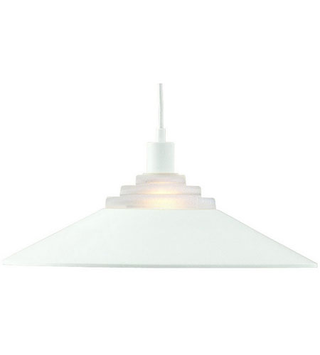 Dolan Designs Pinnacle 1 Light Pendant in Matte White 100-05 photo