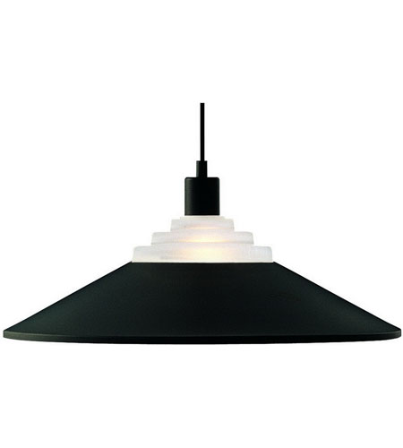Dolan Designs Pinnacle 1 Light Pendant in Matte Black 100-07 photo