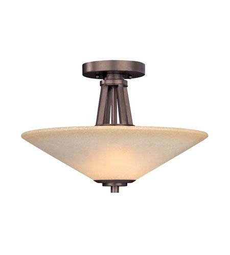 Dolan Designs Covina 2 Light Semi-Flush Mount in Classic Bronze 1065-206 photo