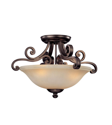 Dolan Designs 1085-207 Brittany 3 Light 19 inch Deep Bronze Semi-Flush Mount Ceiling Light photo