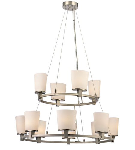 Dolan Designs Ellipse 12 Light Chandelier in Satin Nickel 1092-09 photo