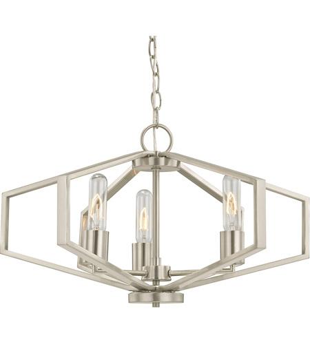 Dolan Designs 1144 09 Hexagon 3 Light 22 Inch Satin Nickel Chandelier Ceiling
