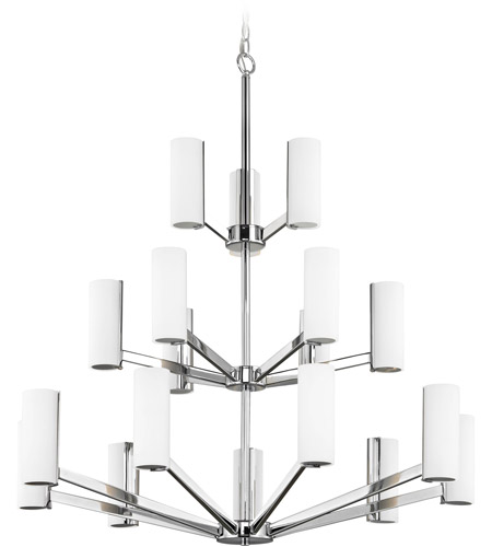 Dolan Designs 1293-26 Radiance LED 34 inch Chrome Chandelier Ceiling Light, Three Tier photo