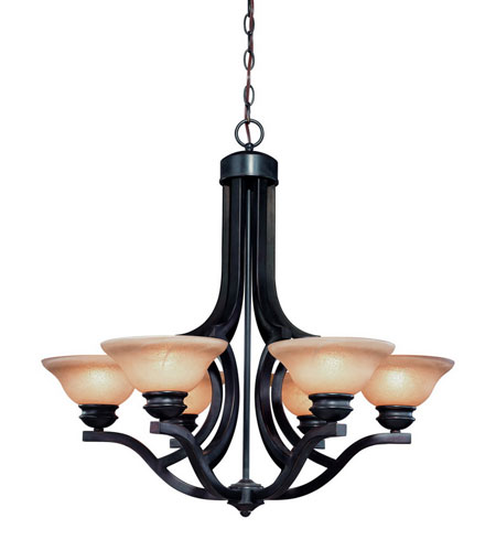 Dolan Designs Garrison 6 Light Chandelier in Antique Bronze 1600-20 photo