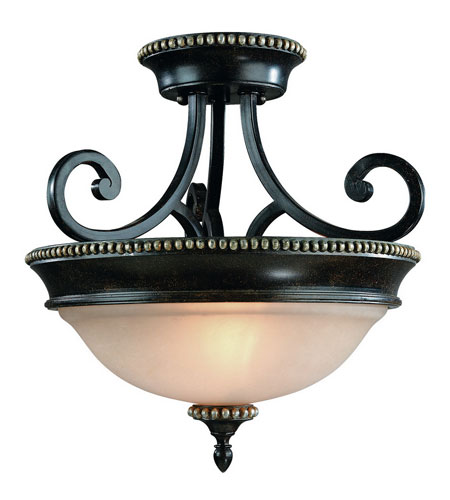Dolan Designs 1754-148 Hastings 2 Light 15 inch Phoenix Semi-Flush Mount Ceiling Light photo