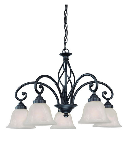 Dolan Designs Wicker Park 5 Light Chandelier in Olde World Iron 185-34 photo