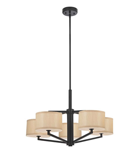 Dolan Designs Monaco 5 Light Chandelier in Ebony Bronze 1880-40 photo