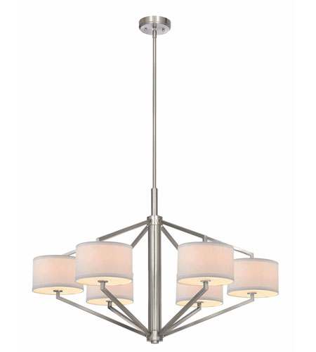 Dolan Designs 1882-09 Monaco 6 Light 36 inch Satin Nickel Chandelier Ceiling Light photo