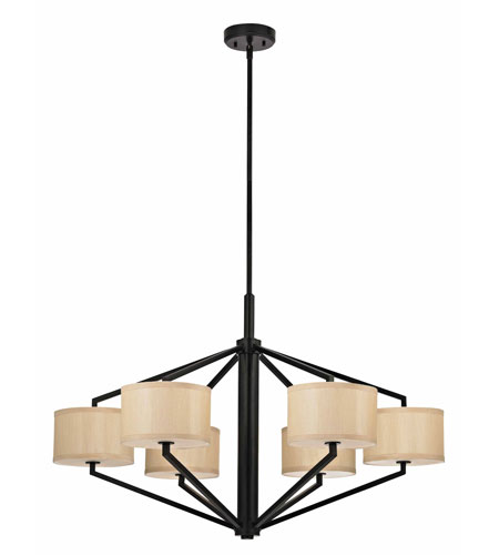 Dolan Designs Monaco 6 Light Chandelier in Ebony Bronze 1882-40 photo
