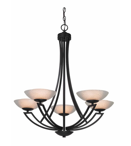 Dolan Designs 1900-46 Delany 5 Light 28 inch Warm Bronze Chandelier Ceiling Light photo