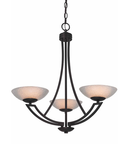 Dolan Designs 1907-46 Delany 3 Light 24 inch Warm Bronze Chandelier Ceiling Light photo