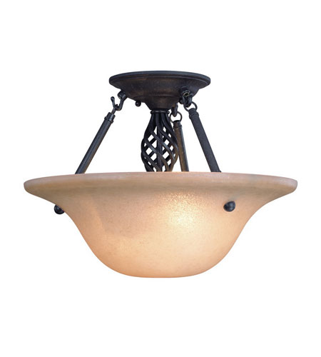 Dolan Designs 1965-75 Atlantis 2 Light 16 inch Georgian Semi-Flush Mount Ceiling Light photo