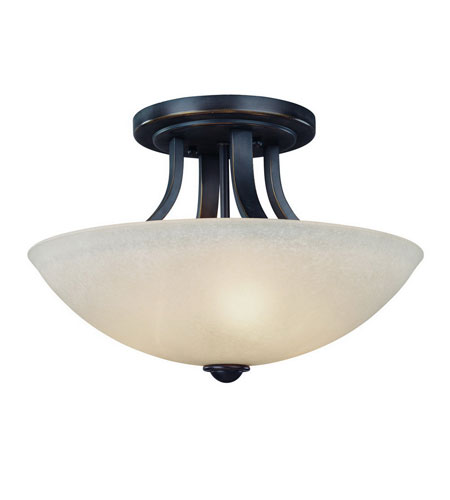 Dolan Designs 204-78 Fireside 3 Light 15 inch Bolivian Semi-Flush Mount Ceiling Light in Carmelized photo