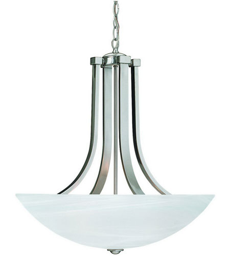 Dolan Designs 207-09 Fireside 4 Light 22 inch Satin Nickel Pendant Ceiling Light in Alabaster photo