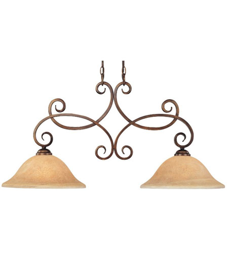 Dolan Designs Medici 2 Light Island Light in English Bronze 2097-133 photo