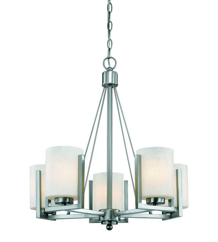 Dolan Designs Uptown 5 Light Chandelier in Satin Nickel 2240-09 photo
