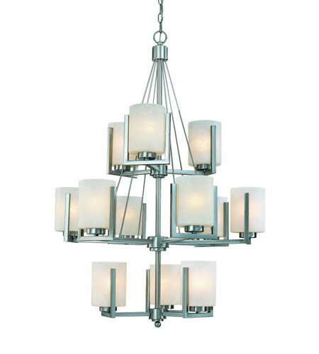Dolan Designs 2243-09 Uptown 12 Light 31 inch Satin Nickel Chandelier Ceiling Light photo