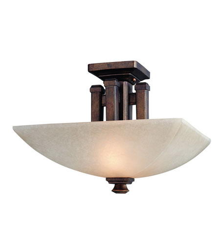 Dolan Designs Belltown 2 Light Semi-Flush Mount in Sienna 2375-90 photo